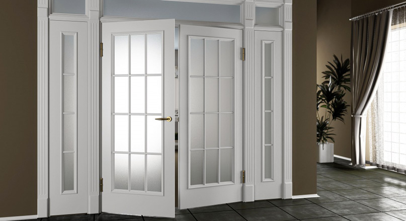 Межкомнатная дверь с фрамугой