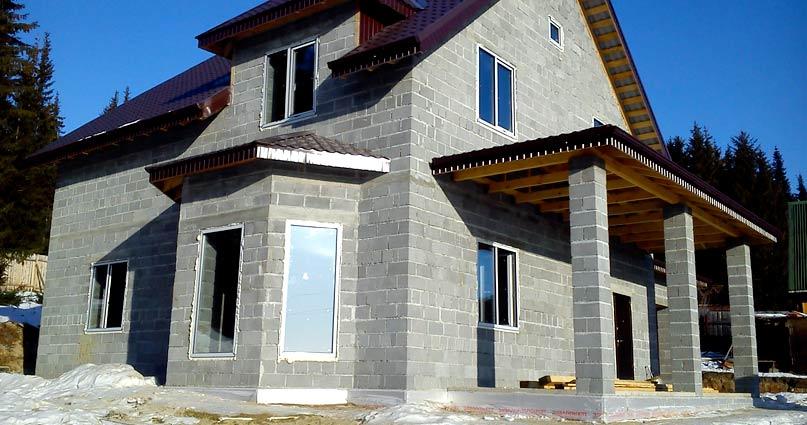 Дом из блоков керамзитобетона