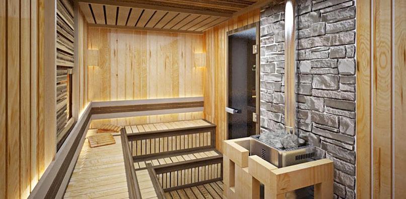 Расположение полок в бане