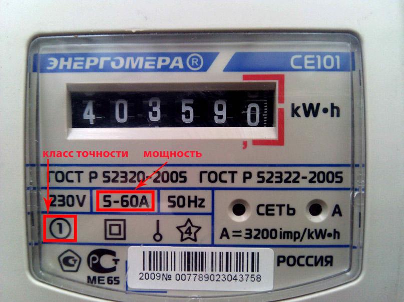 Класс точности счетчика электричества