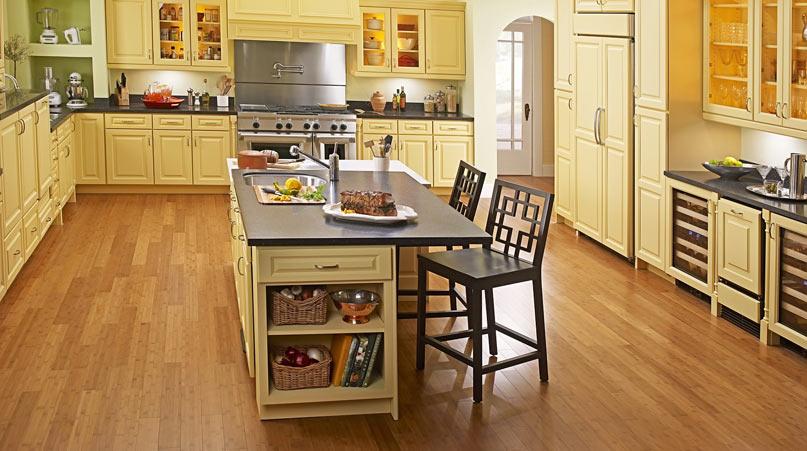 Кухня и ламинат