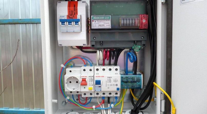 Монтаж счетчика электричества