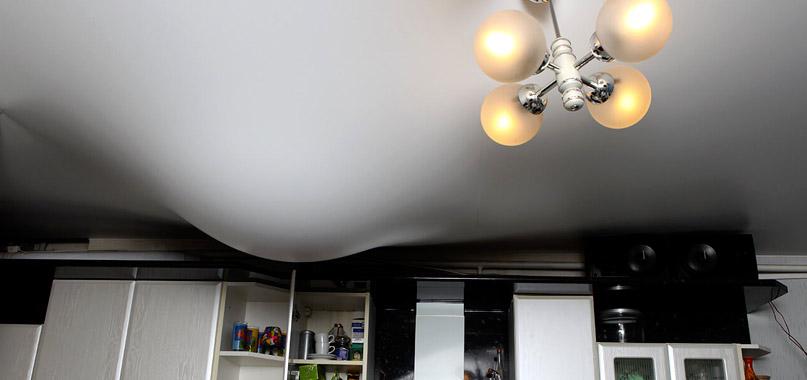 Натяжной потолок при потопе