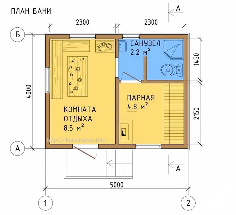 Схема мини бани