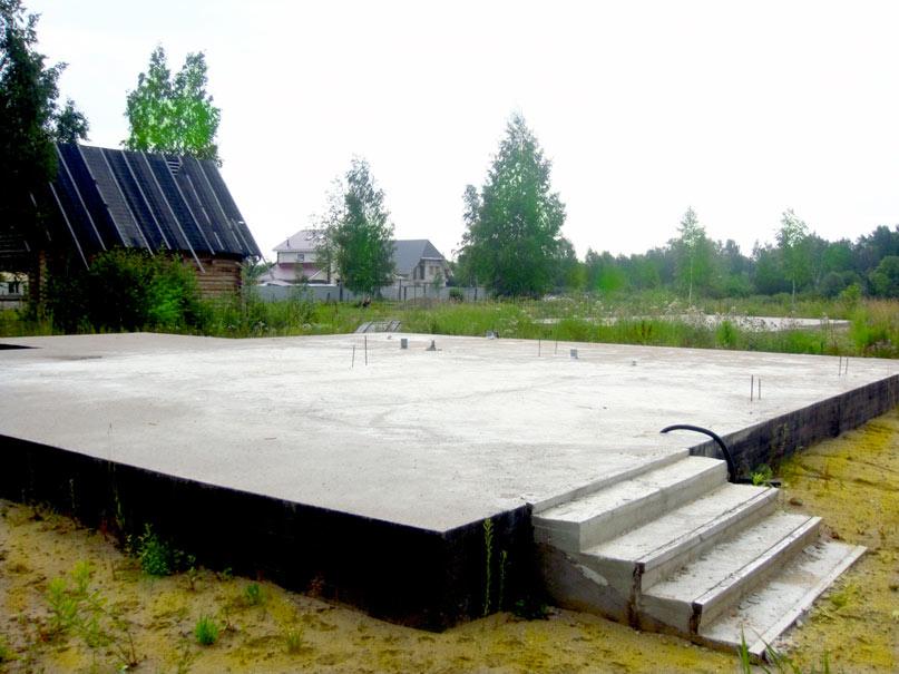 Плитный фундамент для дома
