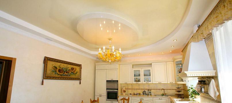 Потолок на кухне подвесной