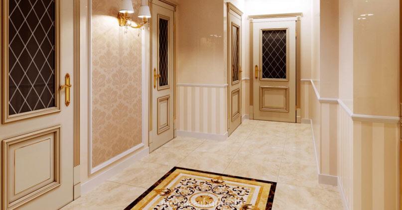 Пол из плитки в коридоре