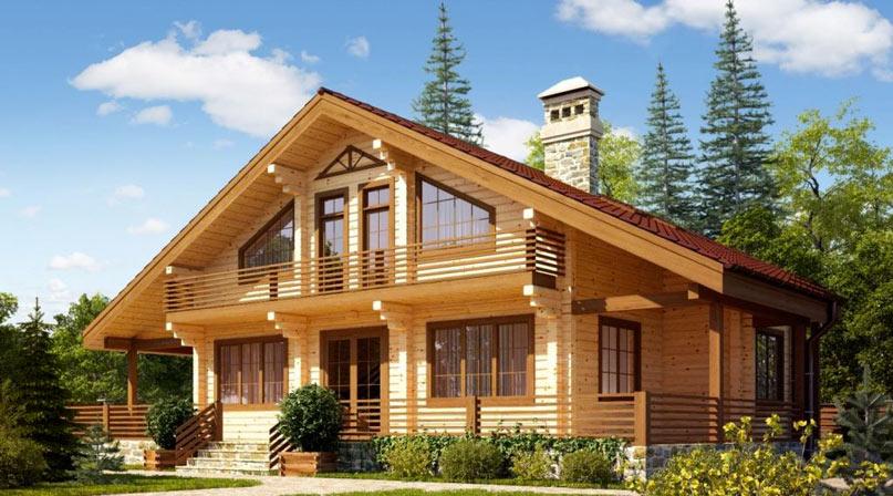 Дом построенный из бруса