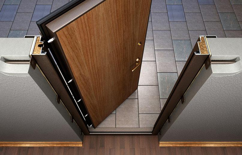Дверь металлическая на петлях