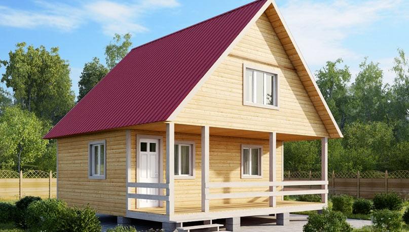 Щипцовая крыша дома