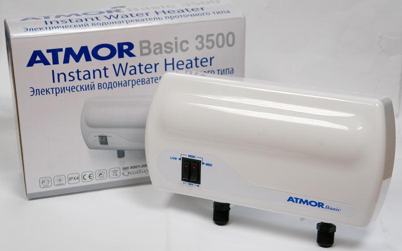 Атмор водонагреватель проточный