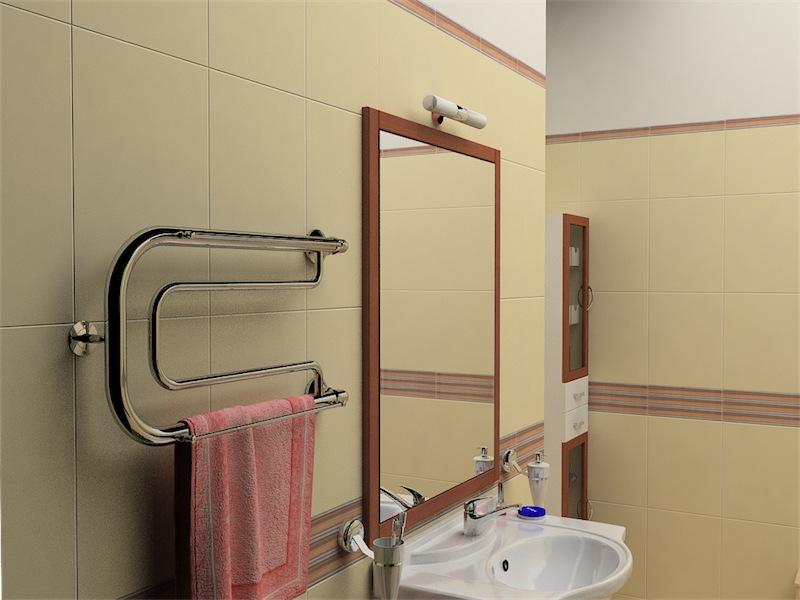 Комбинированный полотенцесушитель в ванной