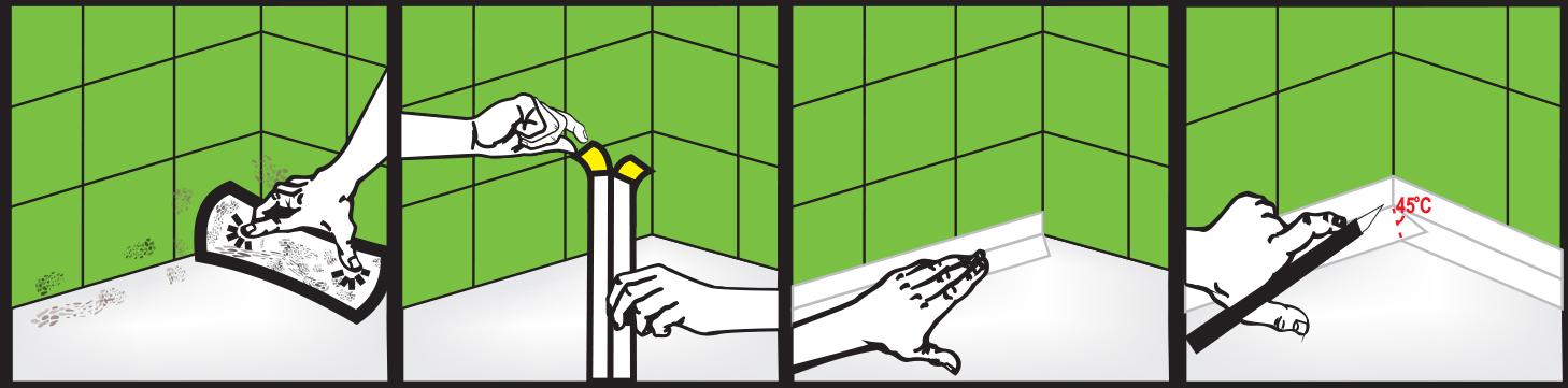 Приклеивание бордюра