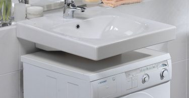 установка стиралки под раковину