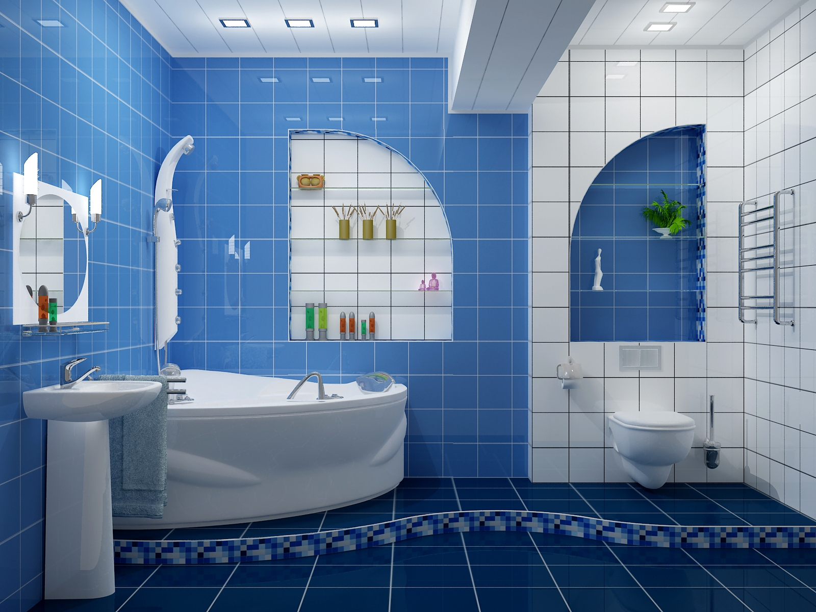 Дизайн в синем цвете