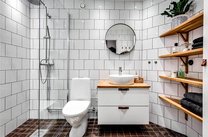 душевая в ванной сканди