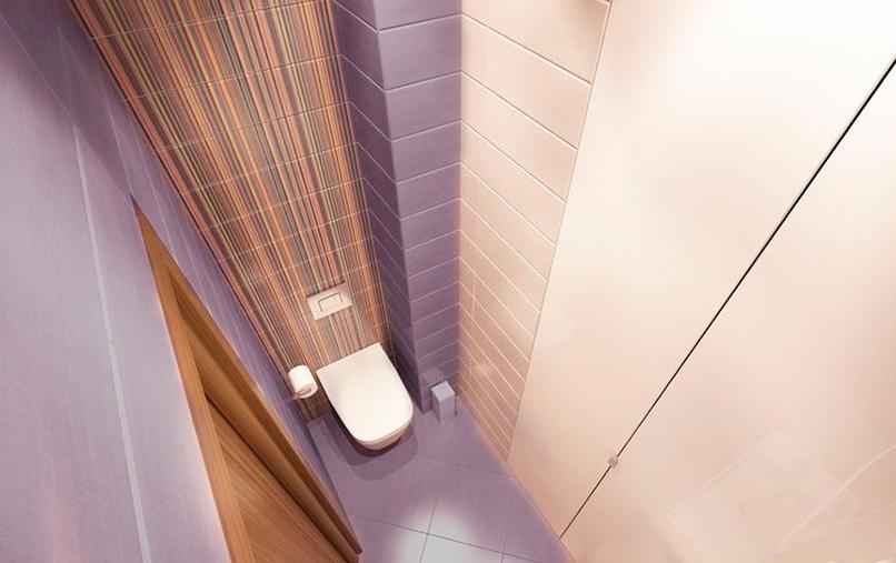 сочетание цветов в дизайне туалета