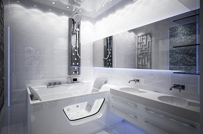 интерьер ванной хай-тек