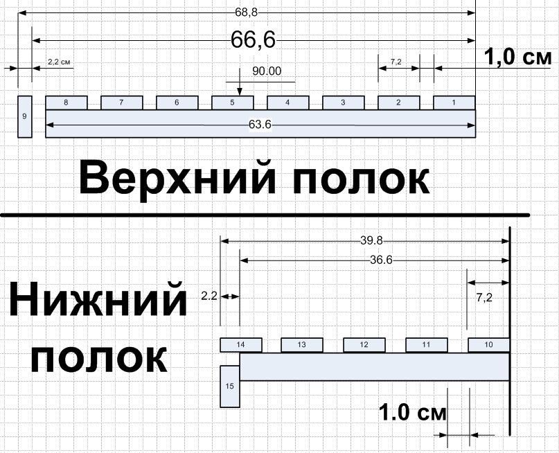 Как сделать полок для бани размеры 202