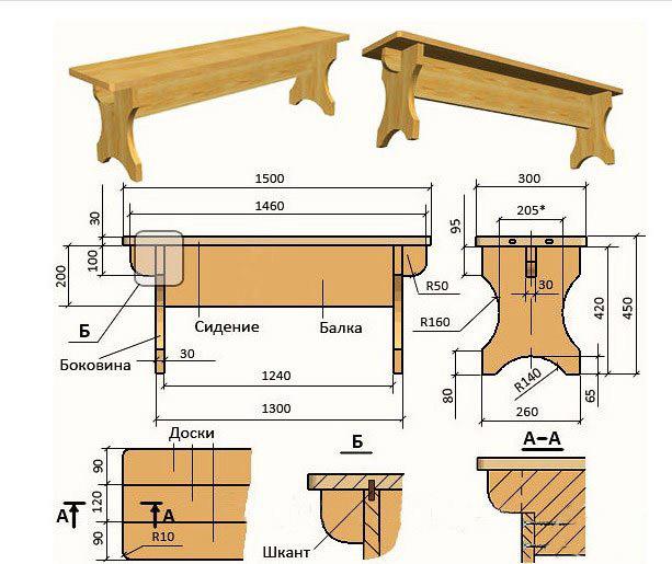Чертежи мебель своими руками из дерева
