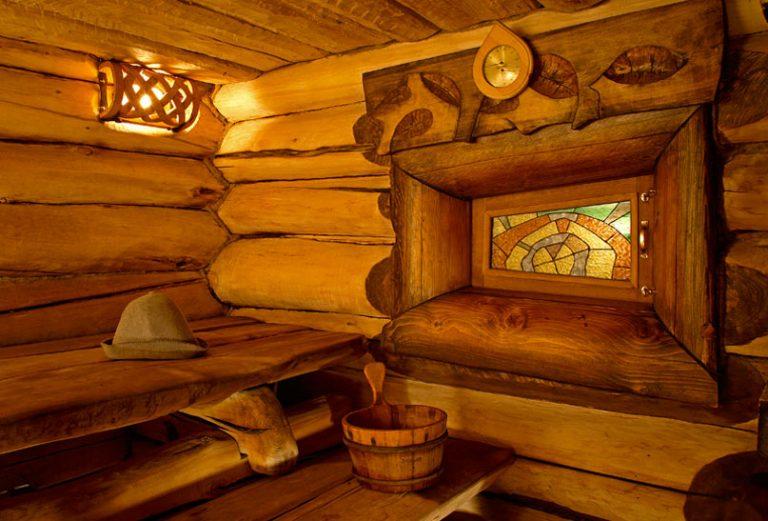 Внутренний интерьер бани своими руками 27