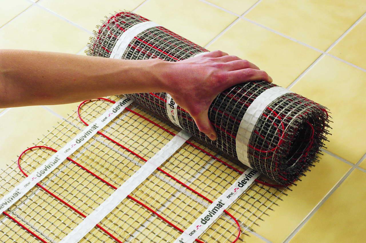 Как сделать теплый пол из нагревающего кабеля