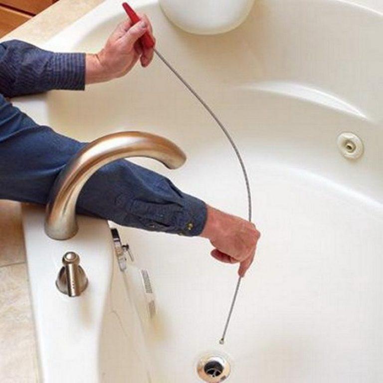 Избавится от засора в ванной в домашних условиях 620