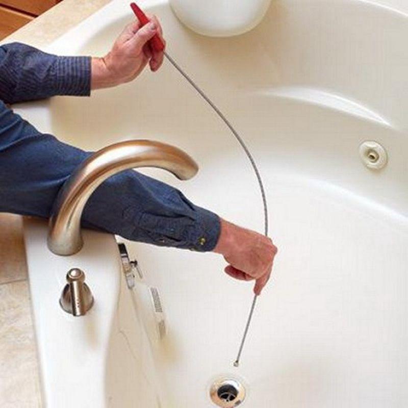 Чем прочистить засор в ванной в домашних условиях